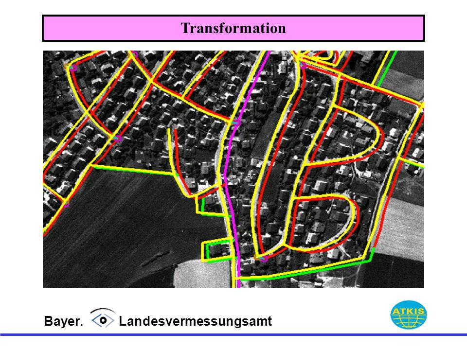 Transformation Bayer. Landesvermessungsamt