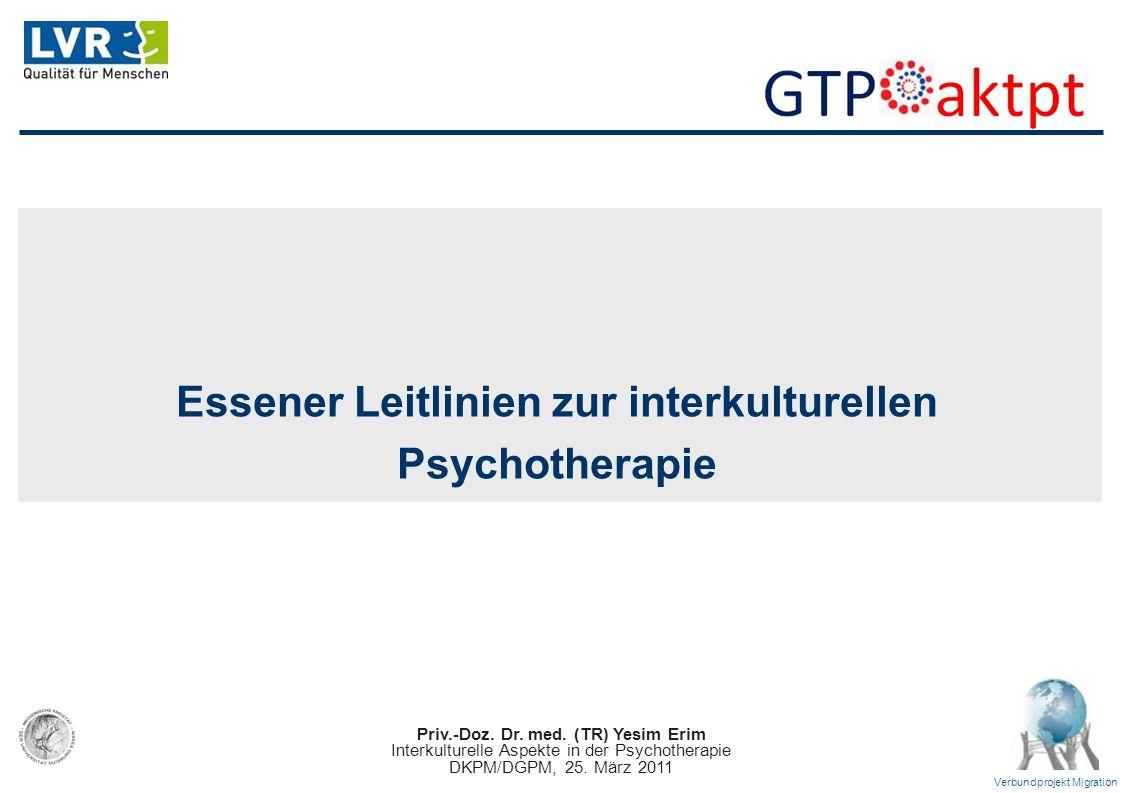 Essener Leitlinien zur interkulturellen Psychotherapie