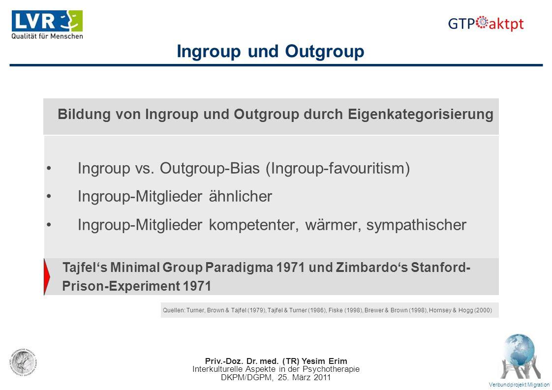 Bildung von Ingroup und Outgroup durch Eigenkategorisierung