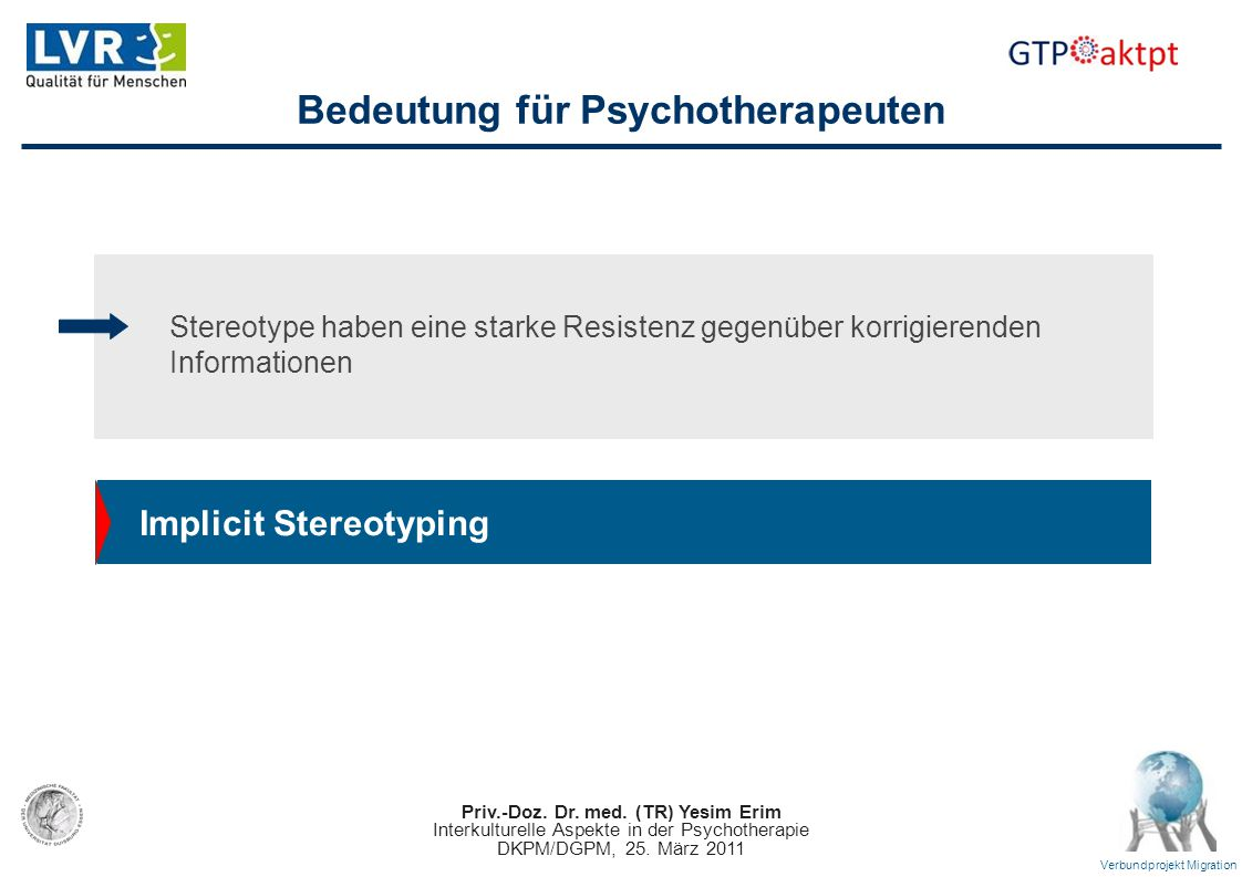 Bedeutung für Psychotherapeuten