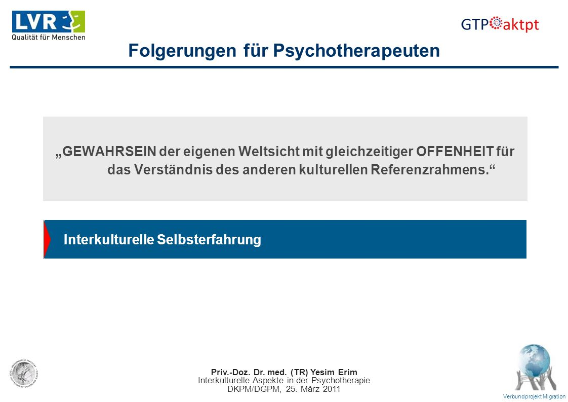 Folgerungen für Psychotherapeuten