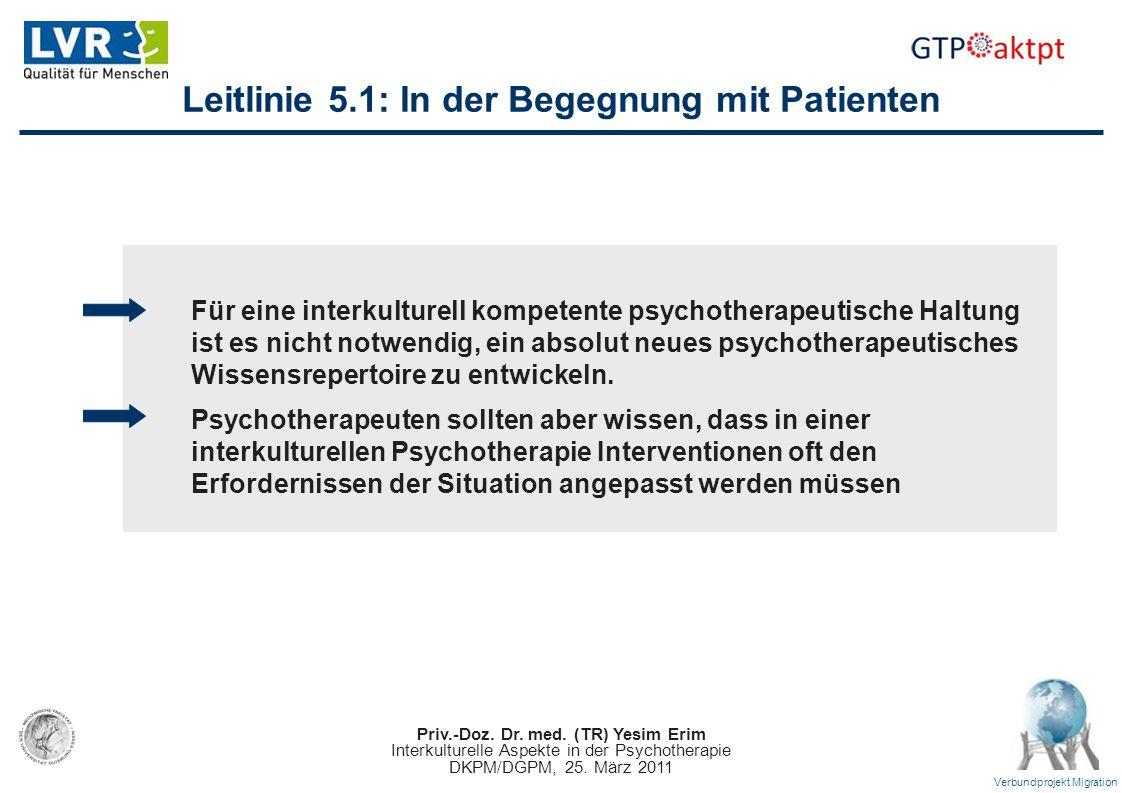 Leitlinie 5.1: In der Begegnung mit Patienten