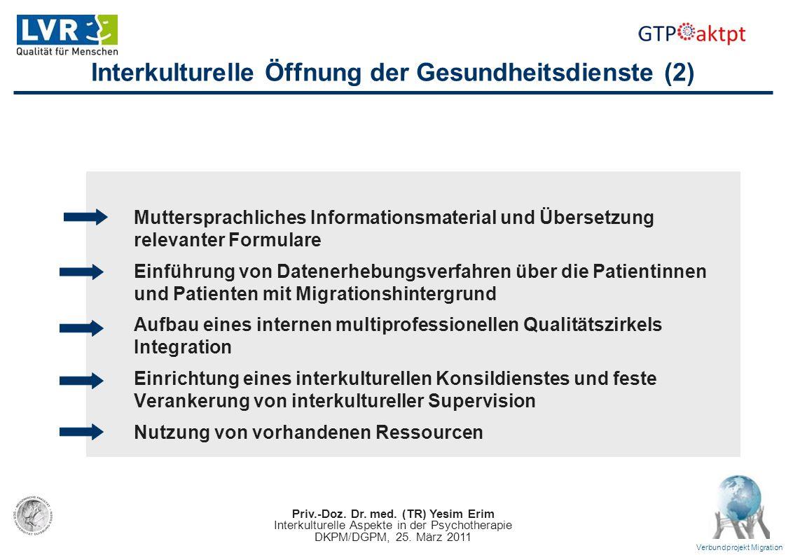 Interkulturelle Öffnung der Gesundheitsdienste (2)