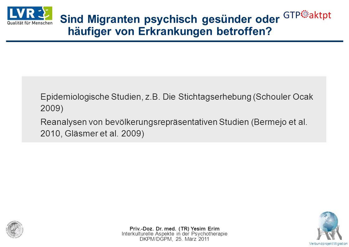 Sind Migranten psychisch gesünder oder häufiger von Erkrankungen betroffen