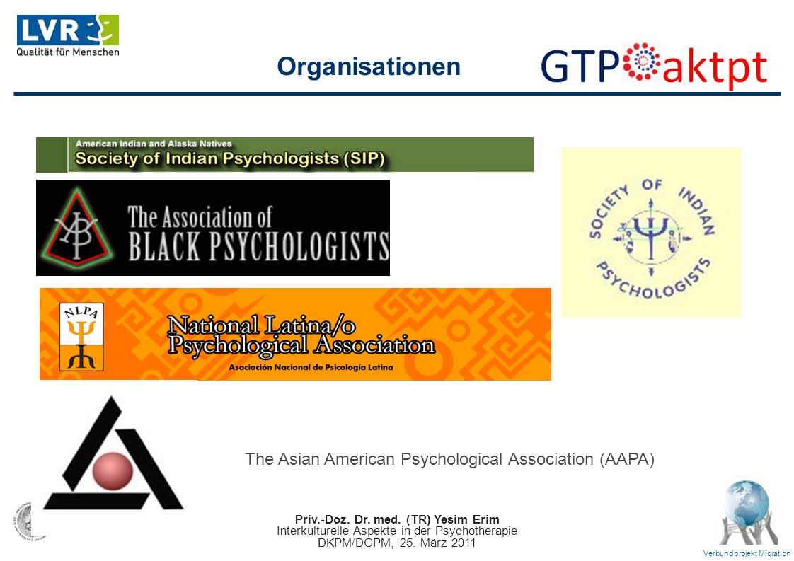 The Asian American Psychological Association (AAPA)