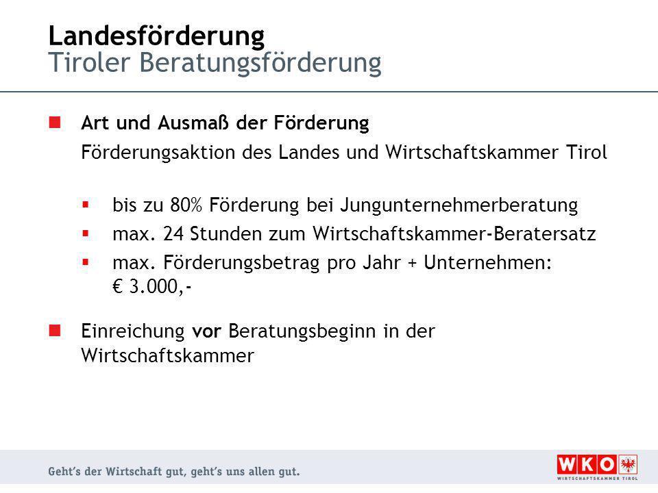 Landesförderung Tiroler Beratungsförderung