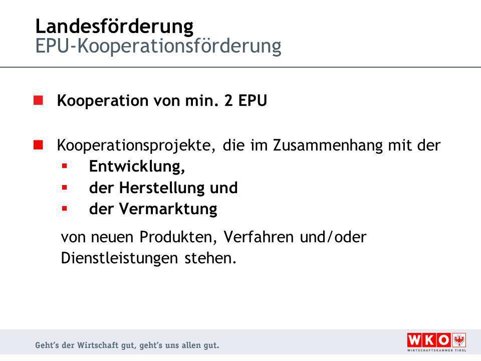 Landesförderung EPU-Kooperationsförderung