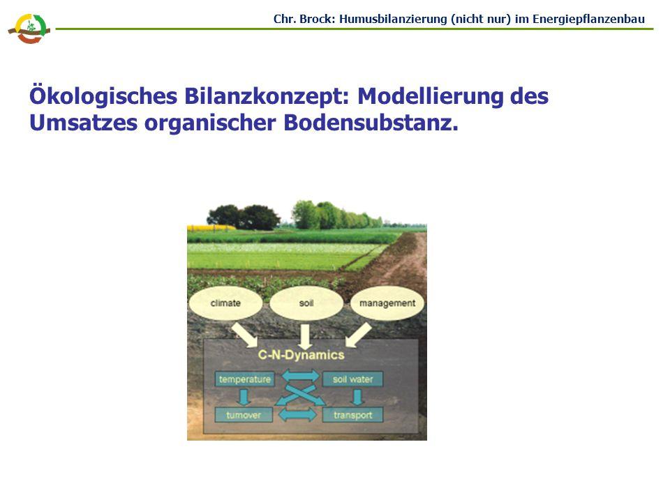 Ökologisches Bilanzkonzept: Modellierung des Umsatzes organischer Bodensubstanz.