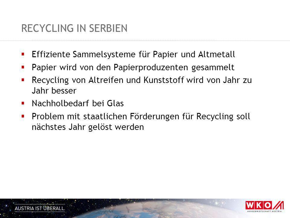 Recycling in Serbien Effiziente Sammelsysteme für Papier und Altmetall