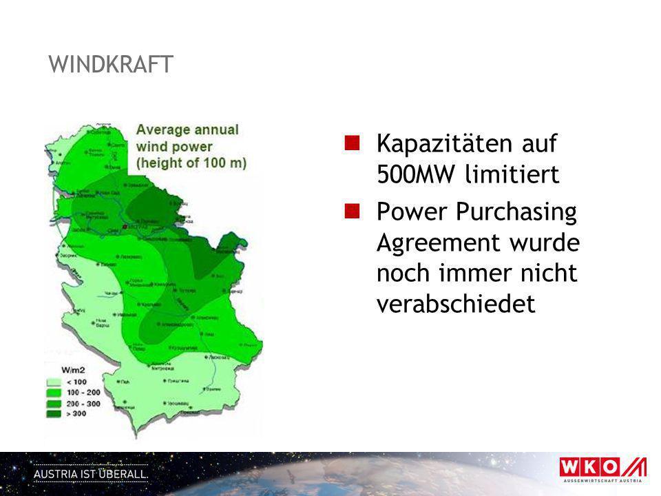 Kapazitäten auf 500MW limitiert