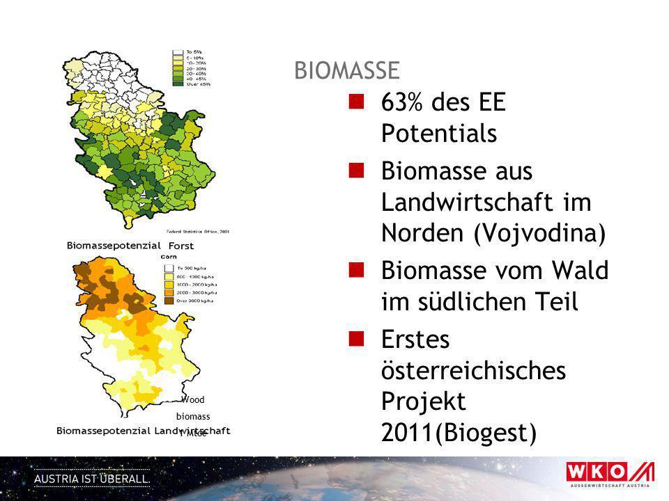 Biomasse aus Landwirtschaft im Norden (Vojvodina)