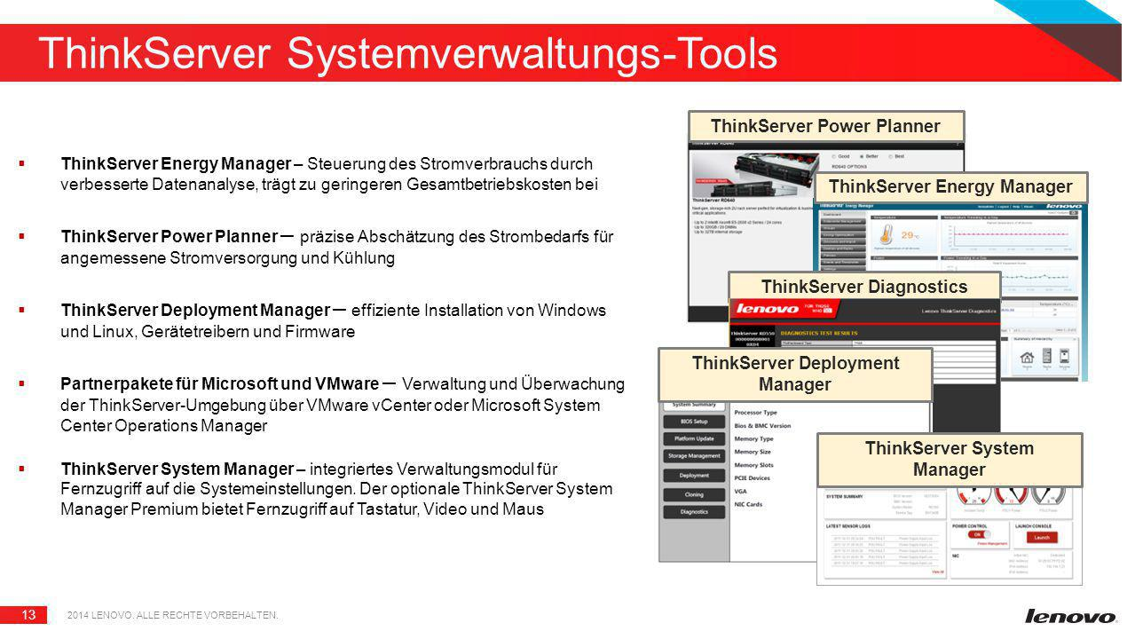 ThinkServer Systemverwaltungs-Tools