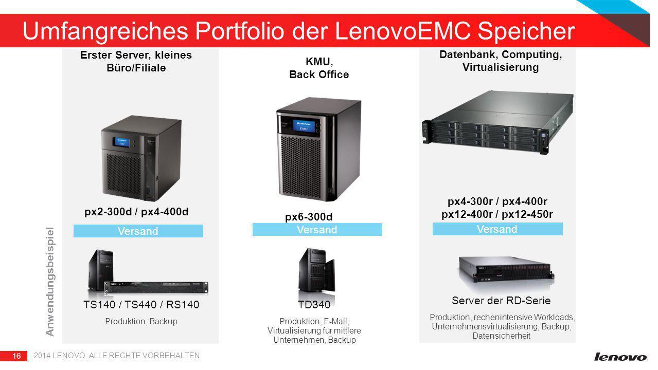 Umfangreiches Portfolio der LenovoEMC Speicher