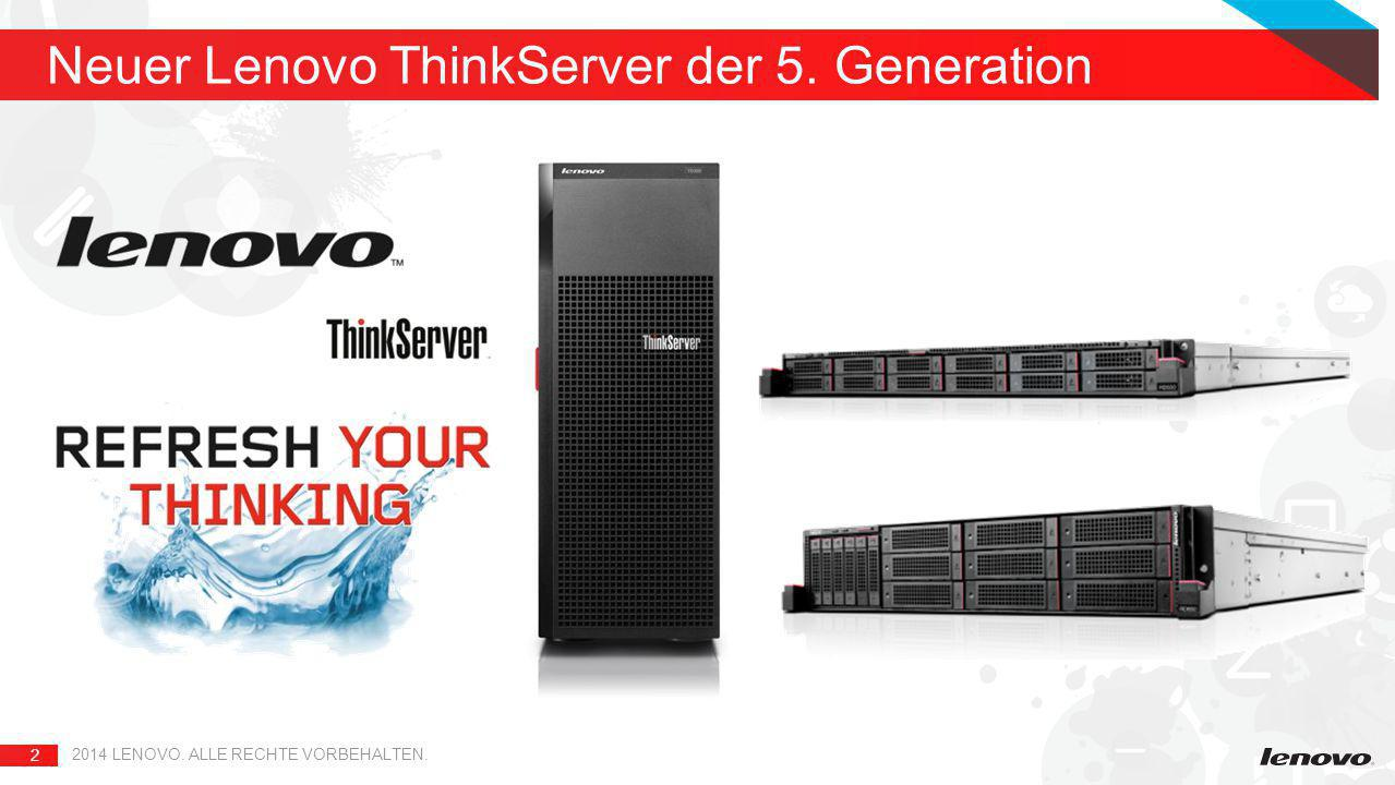 Neuer Lenovo ThinkServer der 5. Generation