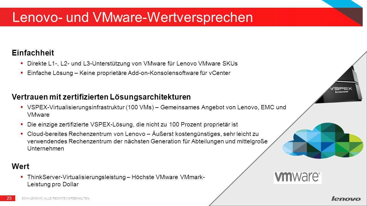 Lenovo- und VMware-Wertversprechen