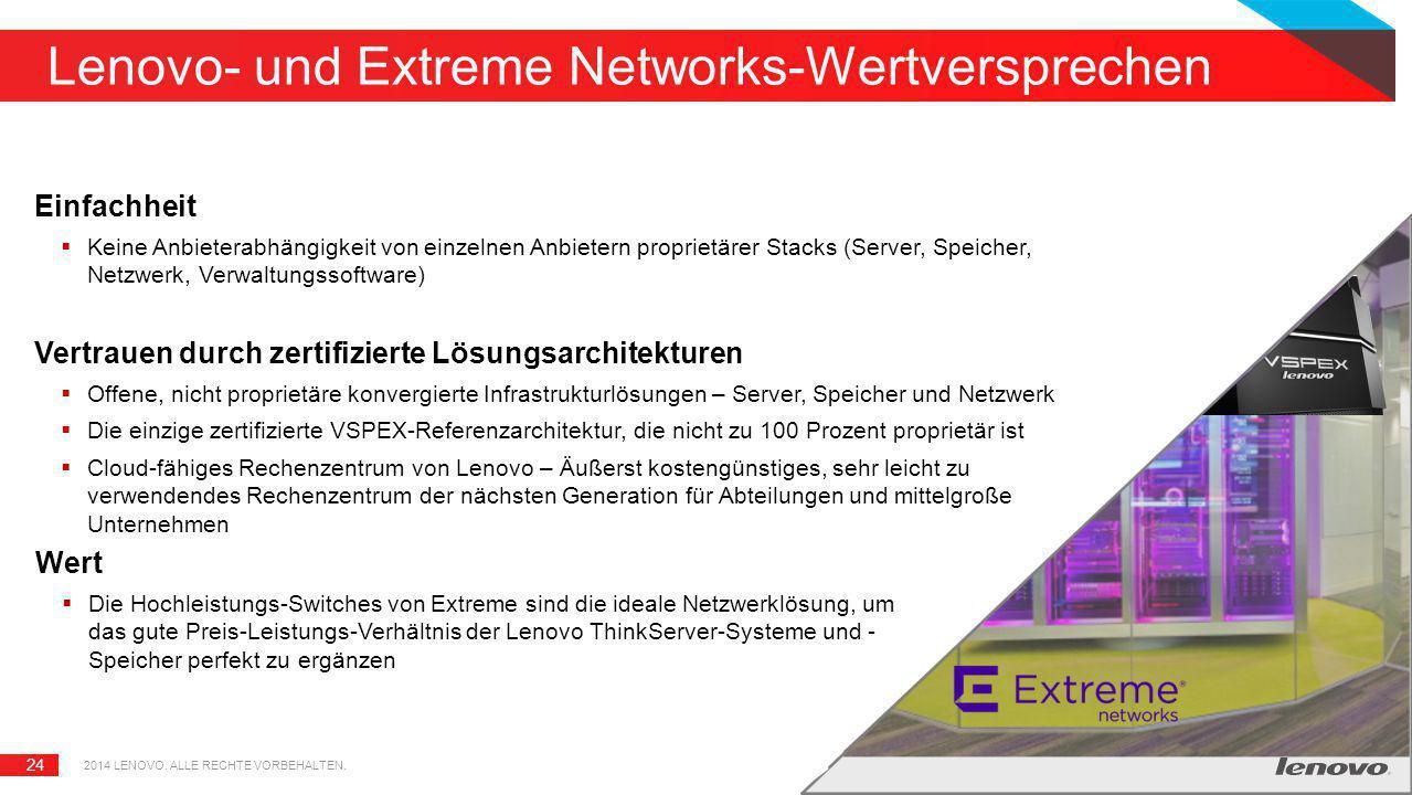 Lenovo- und Extreme Networks-Wertversprechen
