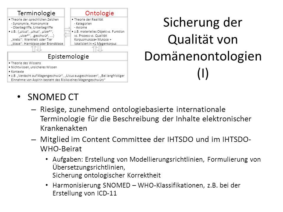 Sicherung der Qualität von Domänenontologien (I)