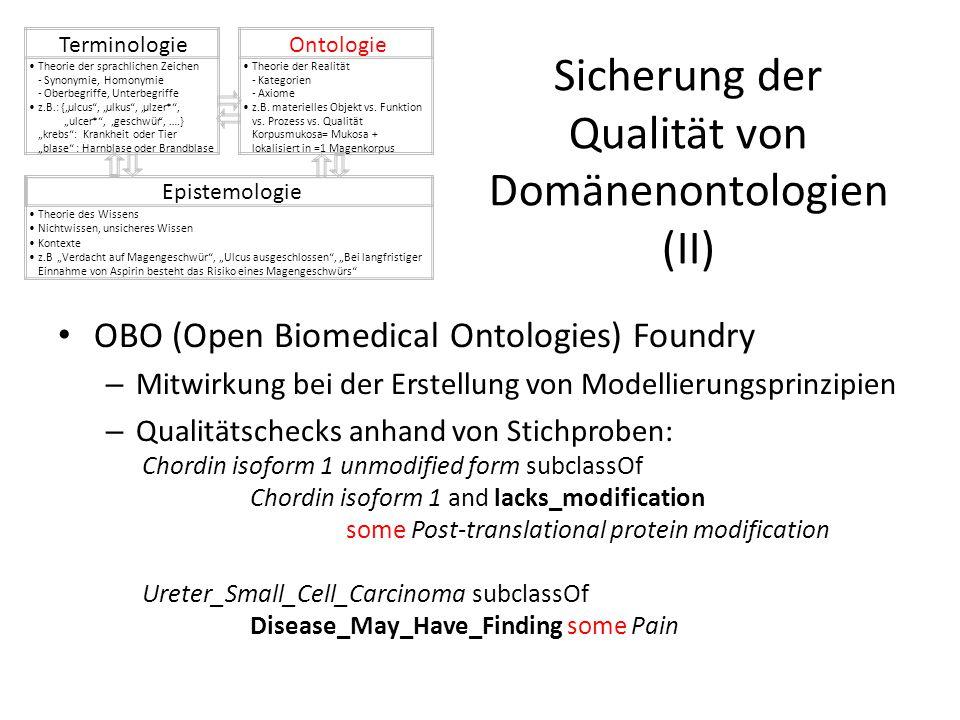 Sicherung der Qualität von Domänenontologien (II)