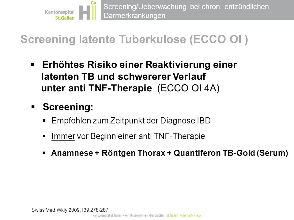 Screening latente Tuberkulose (ECCO OI )