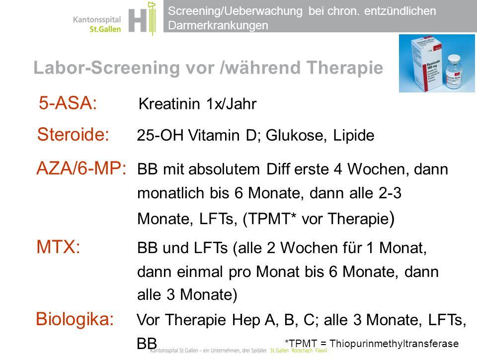 Labor-Screening vor /während Therapie
