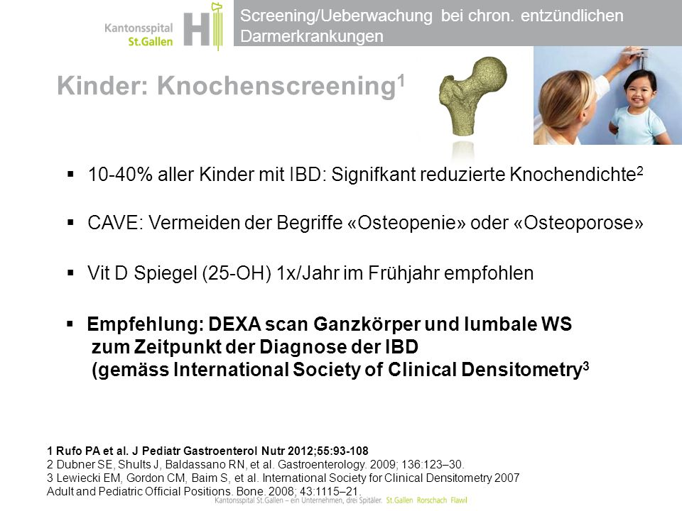 Kinder: Knochenscreening1