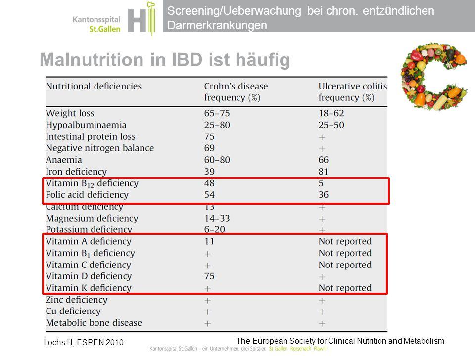 Malnutrition in IBD ist häufig