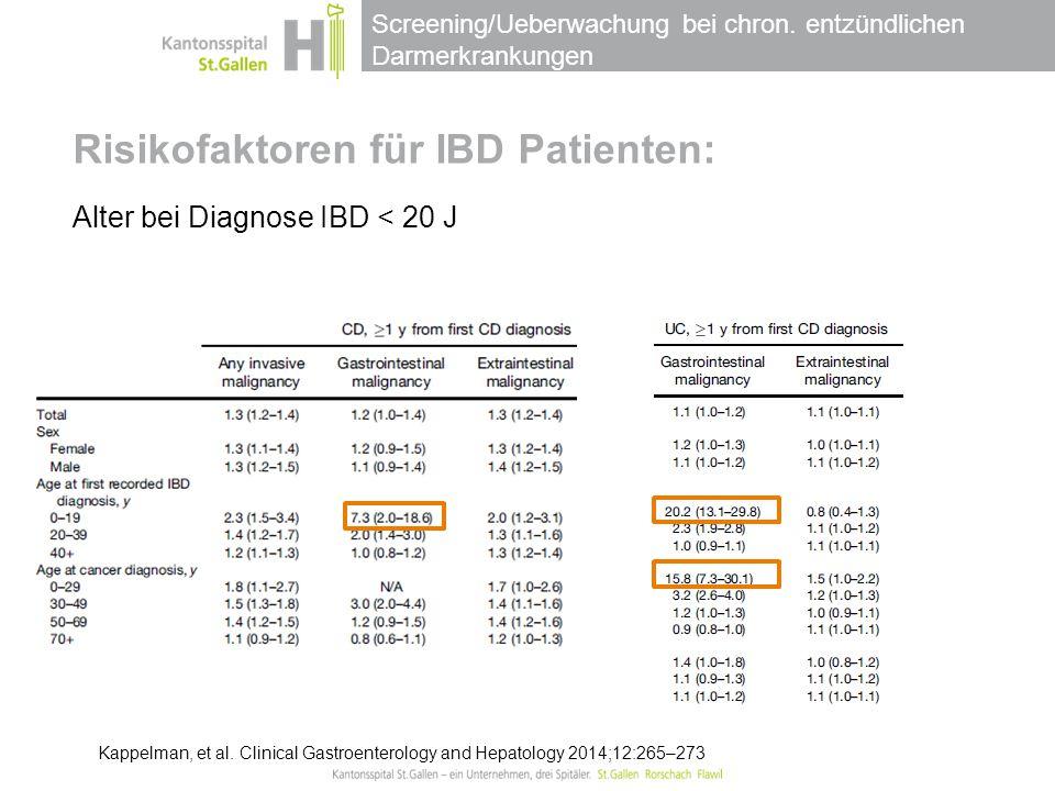 Risikofaktoren für IBD Patienten:
