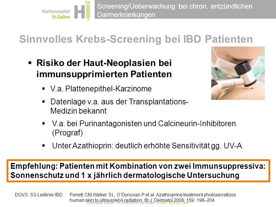 Sinnvolles Krebs-Screening bei IBD Patienten