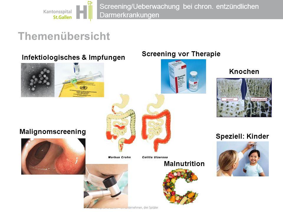 Themenübersicht Screening vor Therapie Infektiologisches & Impfungen