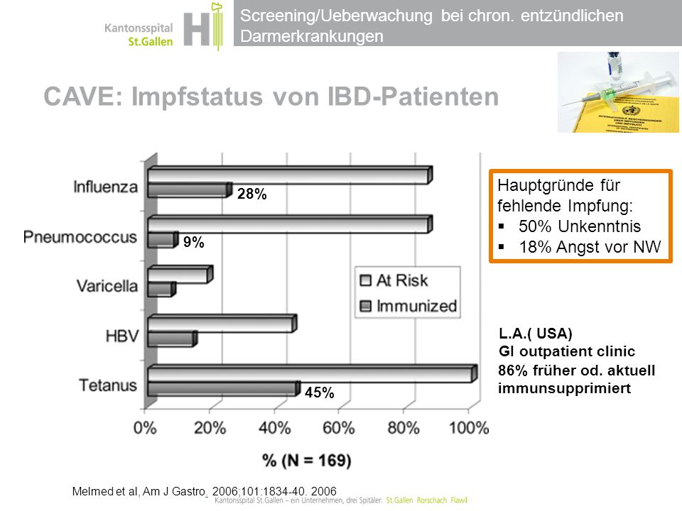 CAVE: Impfstatus von IBD-Patienten