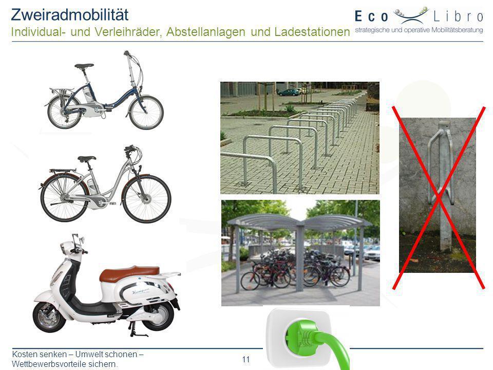 Zweiradmobilität Individual- und Verleihräder, Abstellanlagen und Ladestationen