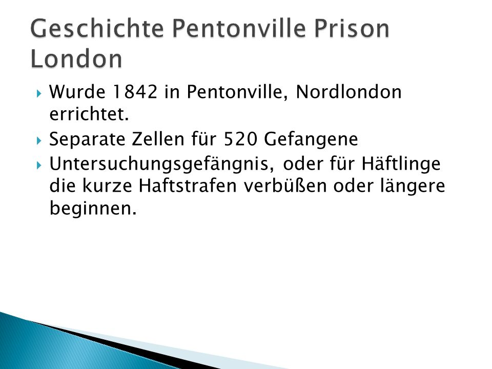 Geschichte Pentonville Prison London