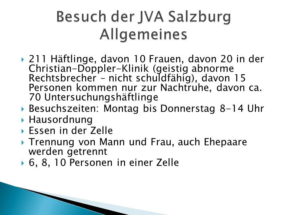 Besuch der JVA Salzburg Allgemeines