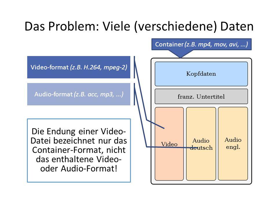 Das Problem: Viele (verschiedene) Daten