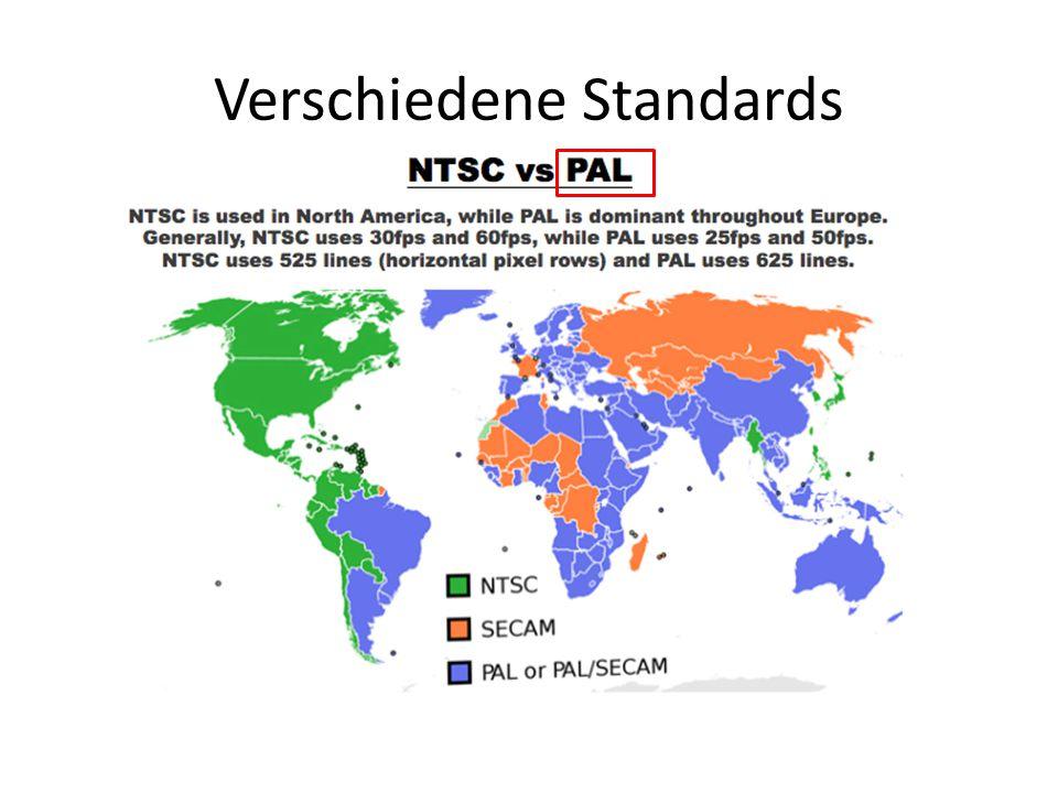 Verschiedene Standards