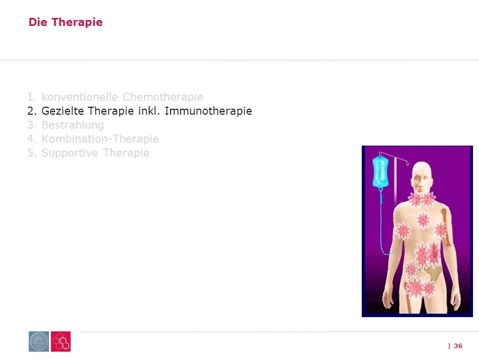 Die Therapie 1. konventionelle Chemotherapie 2. Gezielte Therapie inkl.