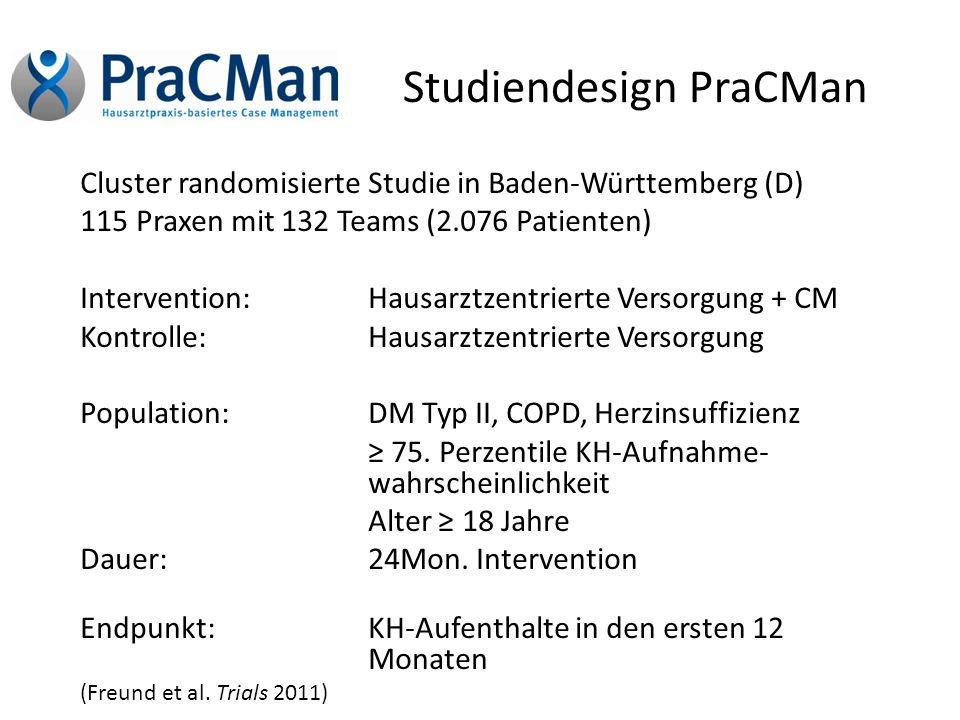 Studiendesign PraCMan