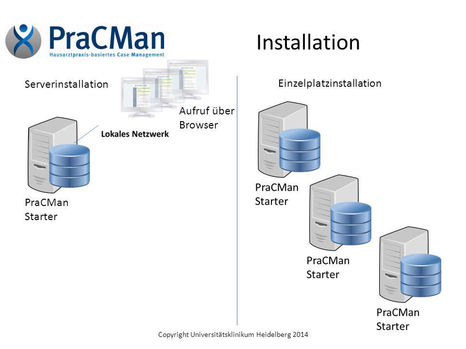 Installation Serverinstallation Einzelplatzinstallation