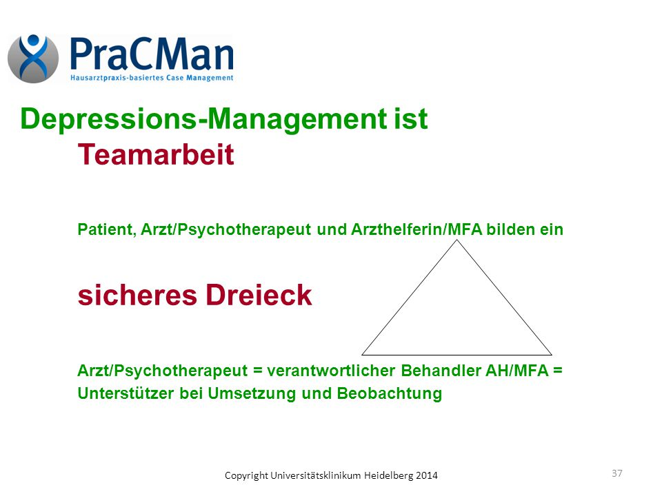 Depressions-Management ist Teamarbeit