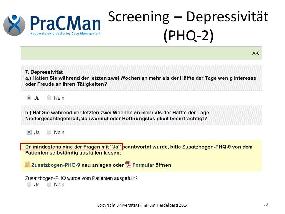 Screening – Depressivität (PHQ-2)