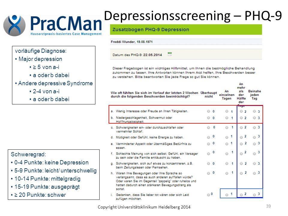 Depressionsscreening – PHQ-9