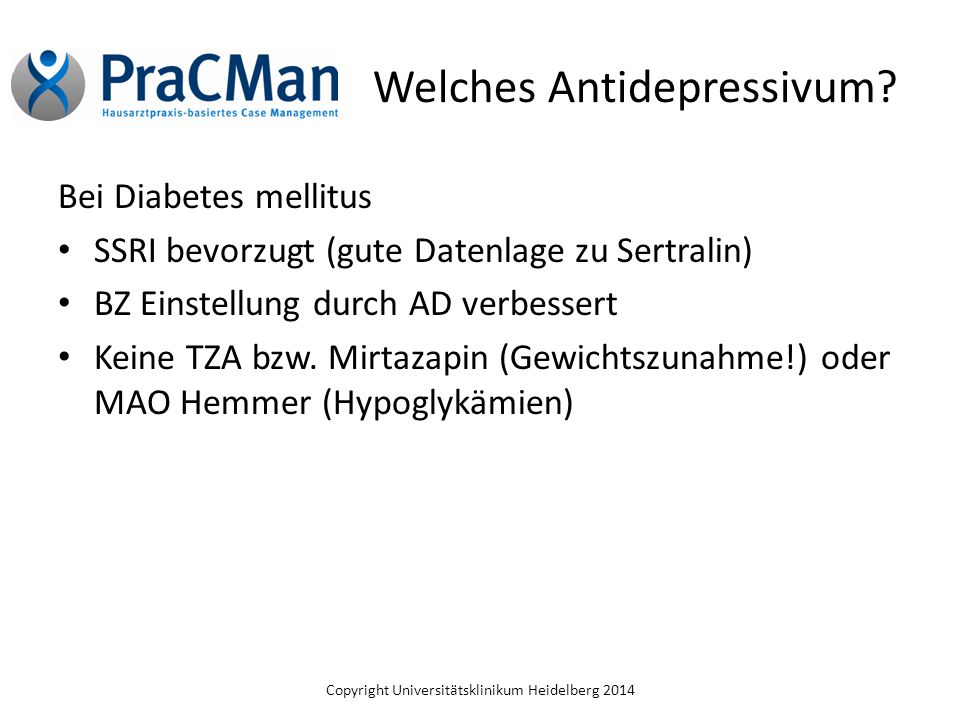 Welches Antidepressivum