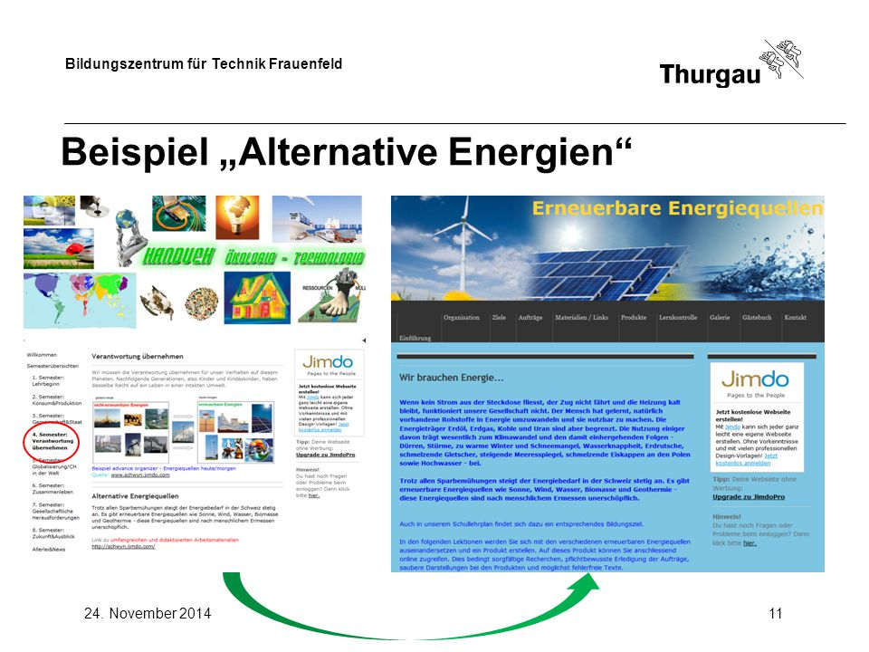 "Beispiel ""Alternative Energien"