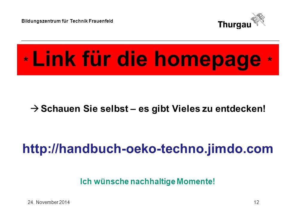 * Link für die homepage *
