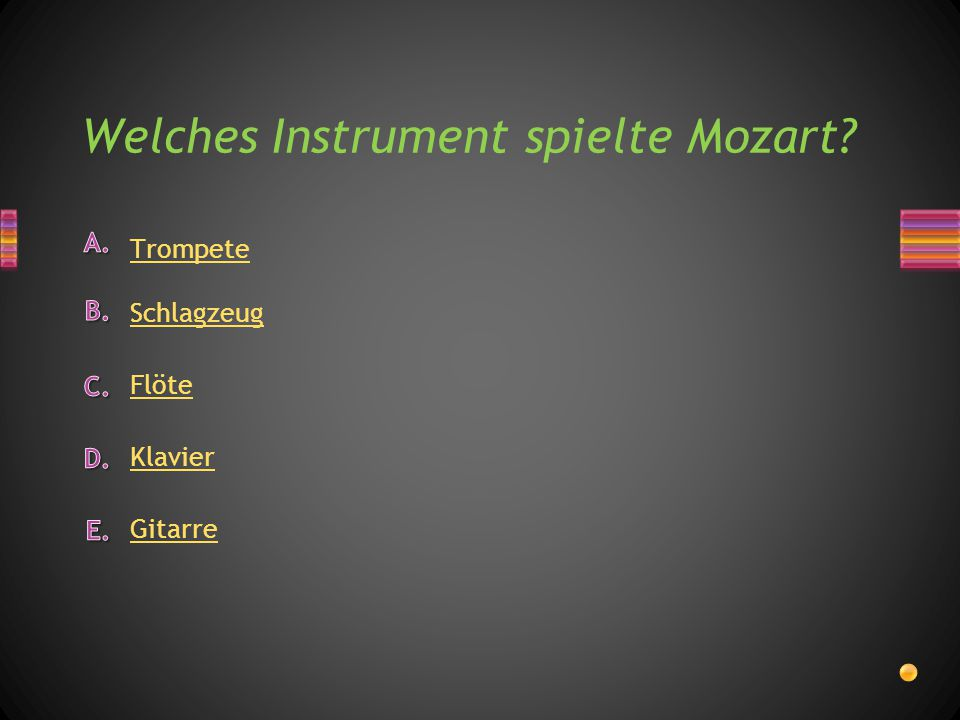 Welches Instrument spielte Mozart