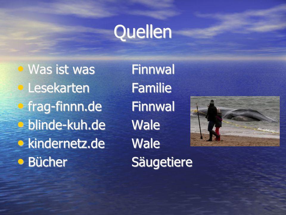 Quellen Was ist was Finnwal Lesekarten Familie frag-finnn.de Finnwal
