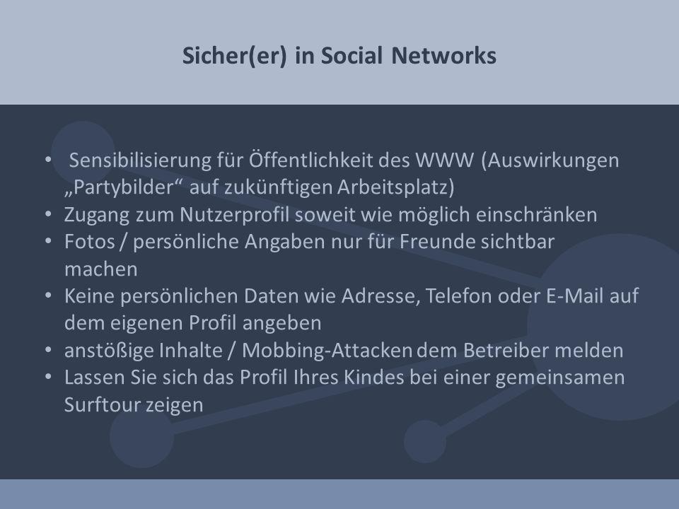 Sicher(er) in Social Networks