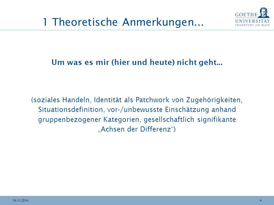 1 Theoretische Anmerkungen...