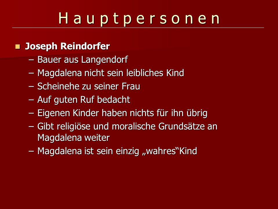 H a u p t p e r s o n e n Joseph Reindorfer Bauer aus Langendorf