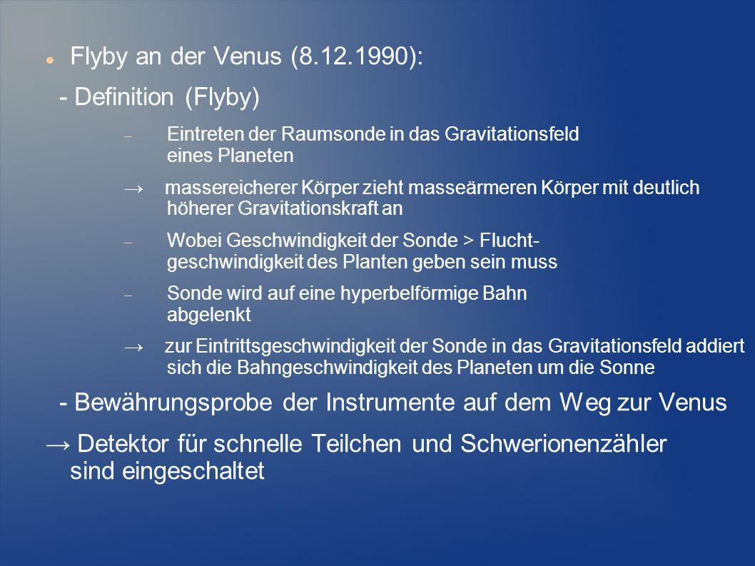 - Bewährungsprobe der Instrumente auf dem Weg zur Venus